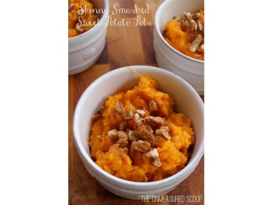 Smashed Sweet Potato Pots