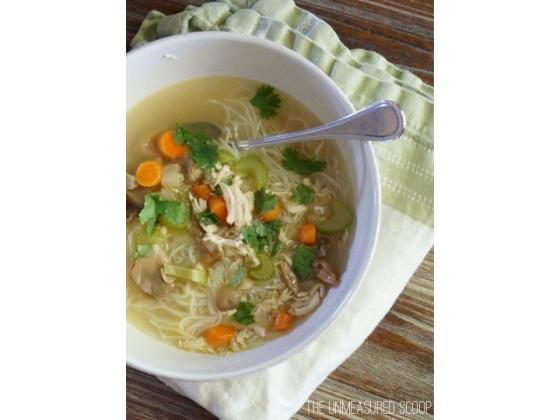 Chicken Noodle Soup w/ Rice Noodles (Gluten-Free)