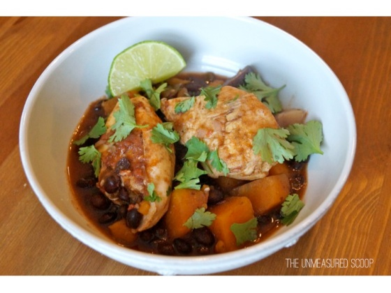 Crock Pot Latin Chicken w/ Sweet & Purple Potatoes